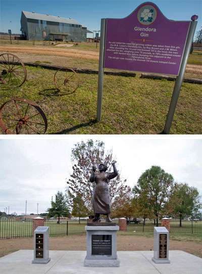 Glendora Cotton Gin and Fannie Lou Hamer statue