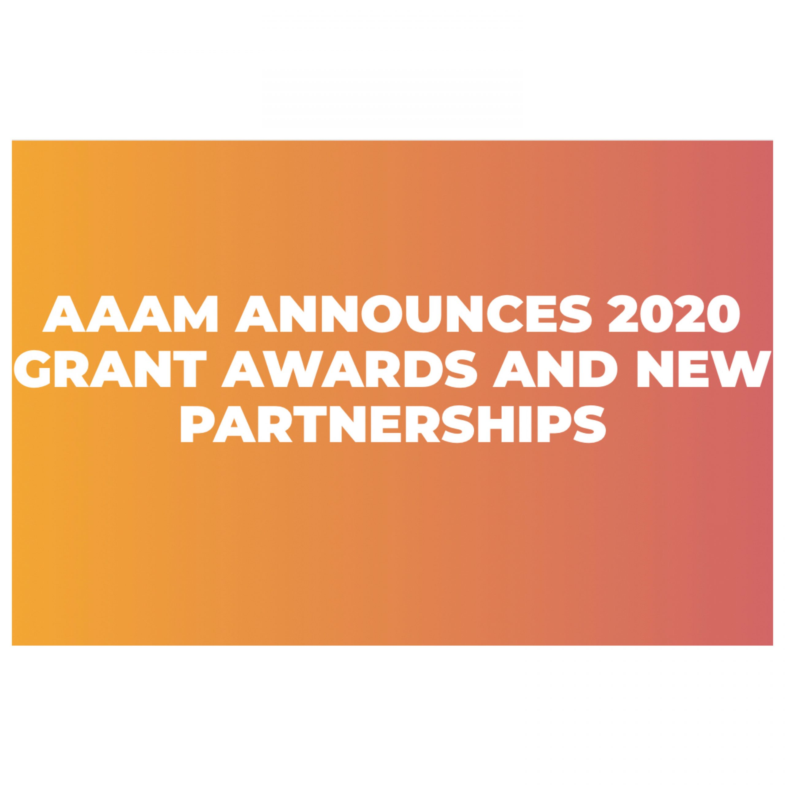 AAAM Grants & Partnerships