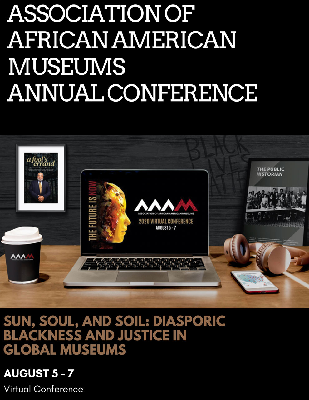 2020 Association of African American Museums program cover
