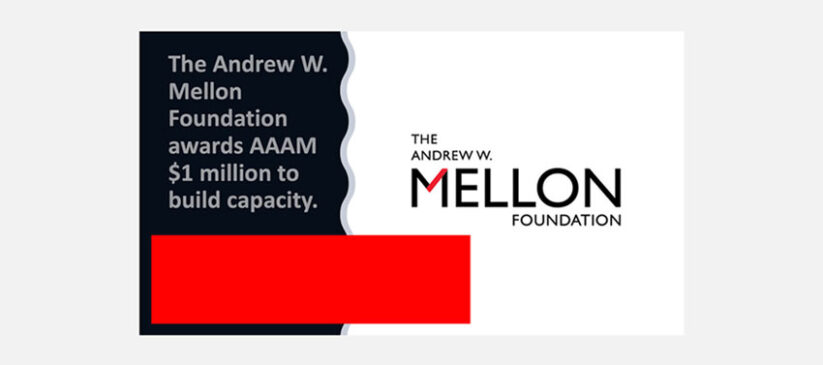 Association of African American Museums Receives a $1 Million Grant from The Andrew W. Mellon Foundation